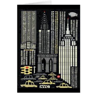 Nova Iorque, abstrato da torre do trunfo Cartão