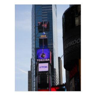 Nova Iorque do cartão do Times Square da bola do