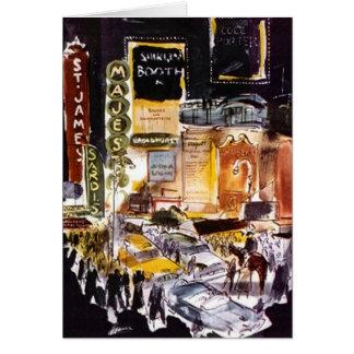 Nova Iorque NYC Broadway do distrito do teatro do Cartão De Nota