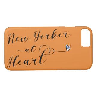 Nova-iorquino na capa de telefone do móbil do