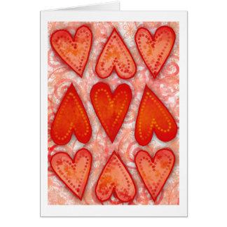 """""""Nove corações cartão do amor"""""""