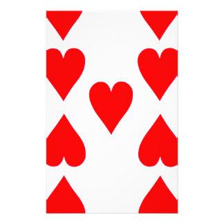 Nove do cartão de jogo dos corações