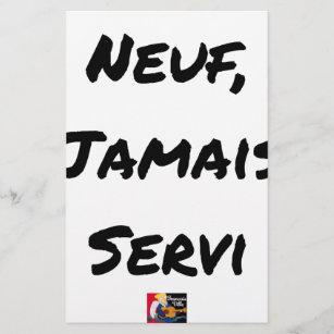 NOVE, NUNCA SERVIDO - Jogos de palavras - François