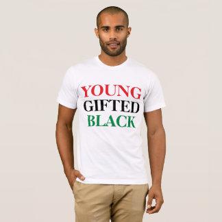 Novo, dotado, & preto camiseta