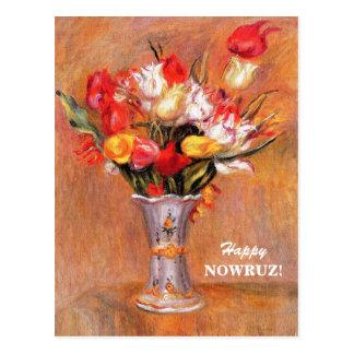 Nowruz feliz. Cartão persas do ano novo