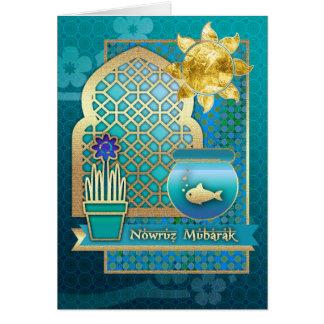 Nowruz Mubarak. Cartões persas do ano novo