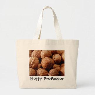 nozes, graduação de noz do professor do professor sacola tote jumbo