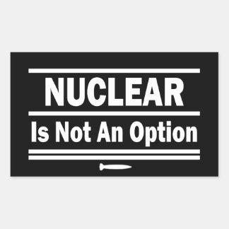 Nuclear não é uma opção adesivo retangular