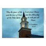 Núcleo 2. 13: 14 de maio a benevolência do senhor  cartão comemorativo