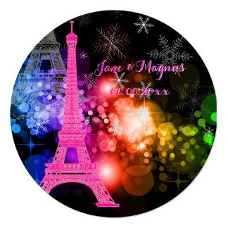 Nuit de Eiffel da excursão do la de Convites Personalizado