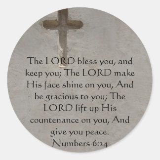 Numera o 6:24 que UPLIFTING O VERSO da BÍBLIA com Adesivo