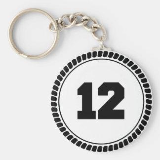 Número 12 chaveiro