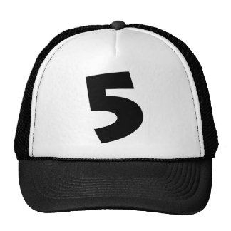 "Número ""5"" boné"