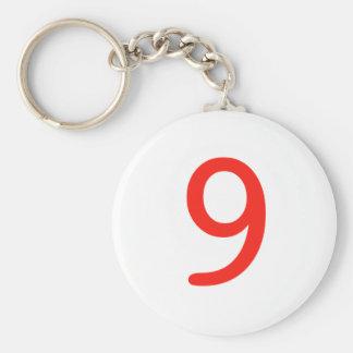 Número 9 chaveiro