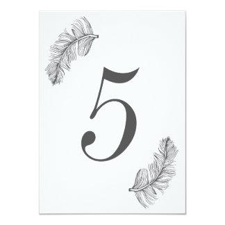 Número cinzento da mesa do Birds of a Feather Convite 11.30 X 15.87cm