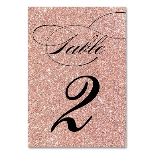 Número cor-de-rosa da mesa da recepção de cartão