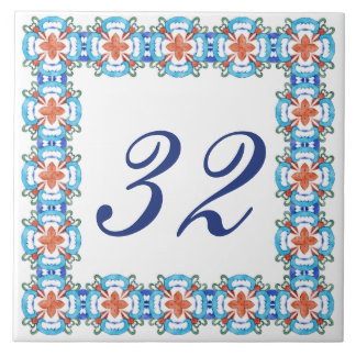 Número da casa de Belinda Azulejo