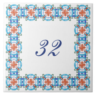 Número da casa de Belinda Azulejos