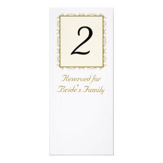 Número da mesa da recepção de casamento
