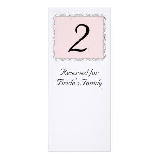 Número da mesa da recepção de casamento convite personalizados
