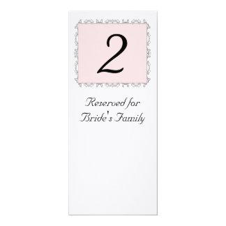 Número da mesa da recepção de casamento convite 10.16 x 23.49cm