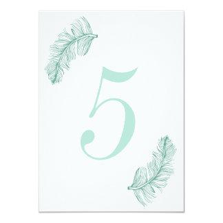 Número da mesa do Birds of a Feather da cerceta Convite 11.30 X 15.87cm
