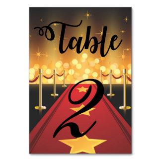 Número da mesa do doce 16 de Hollywood do tapete Cartão