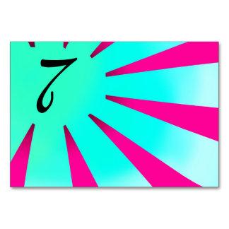 Número da mesa dos raios de Sun de ascensão da ban