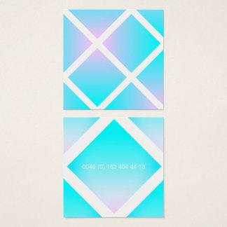 Número de telefone Pastel do inclinação do verão Cartão De Visitas Quadrado