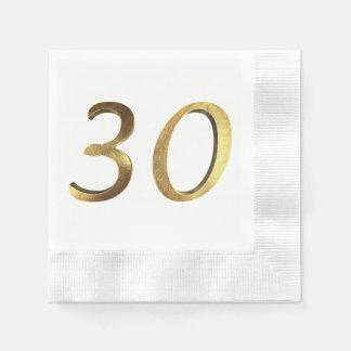 Número do ouro do aniversário de casamento do guardanapo de papel