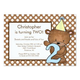 Número doce do urso convite de DOIS segundos
