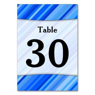 Número feito sob encomenda; Listras do cartão azul