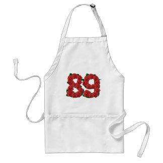 Número flor de 89 ou 89th aniversários avental