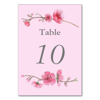 Número floral da mesa