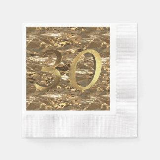 Número ouro do aniversário de casamento de 30 guardanapo de papel