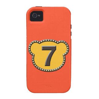 Número principal 7 do urso capinhas para iPhone 4/4S