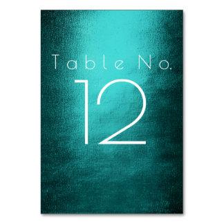 Número vertical branco verde tropical da mesa da