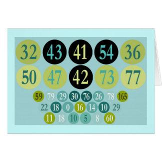 Números afortunados, design colorido, modelo cartão