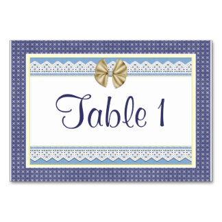 Números azuis da mesa do chá de fraldas