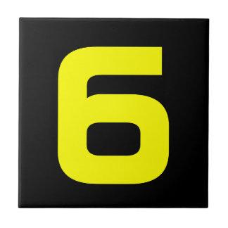 Números da casa Funky Azulejo Quadrado Pequeno
