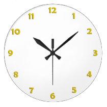 Números da face do relógio - amarelo relógios para paredes