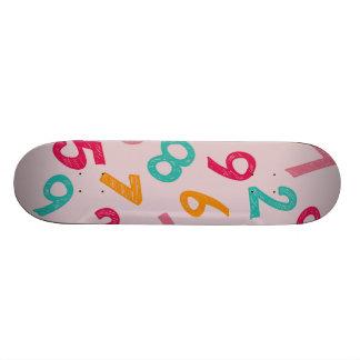 Números das crianças skates personalizados