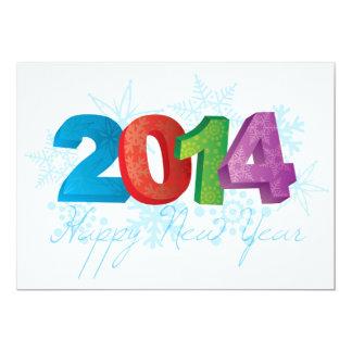 Números do texto dos 2014 felizes anos novos com convites