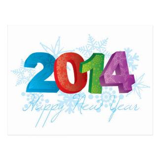 Números do texto dos 2014 felizes anos novos com f cartão postal