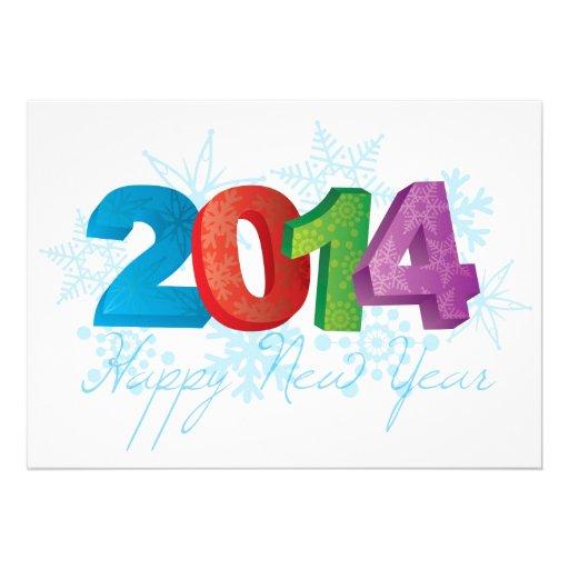 Números do texto dos 2014 felizes anos novos com f convites