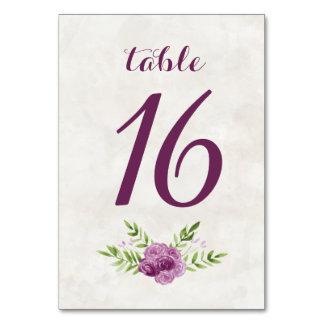 Números florais da mesa da aguarela