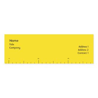 Números - magros cartão de visita