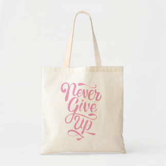 Nunca dê acima a caligrafia o bolsa cor-de-rosa da