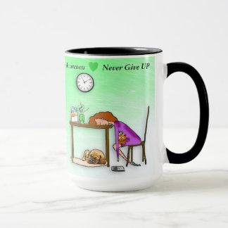Nunca dê acima a caneca de café do guerreiro da