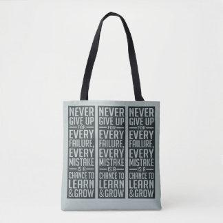 NUNCA DÊ ACIMA as bolsas inspiradores